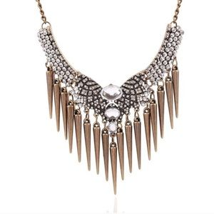 "Jewelry - ""Diamond Rain"" Statement Necklace"